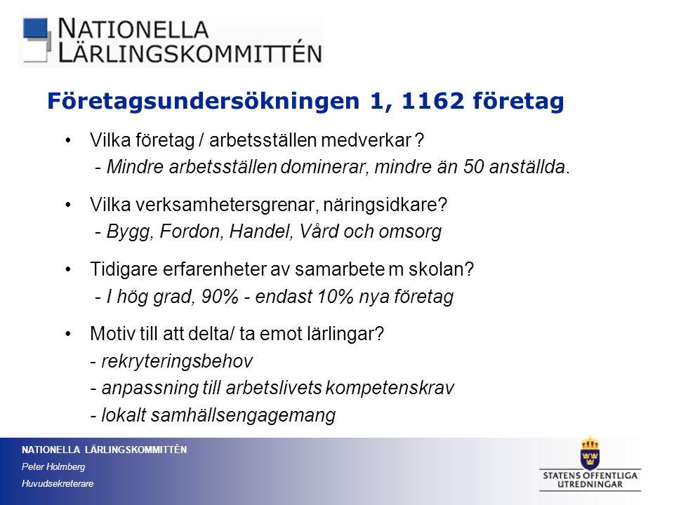 Företagsundersökningen 1, 1162 företag