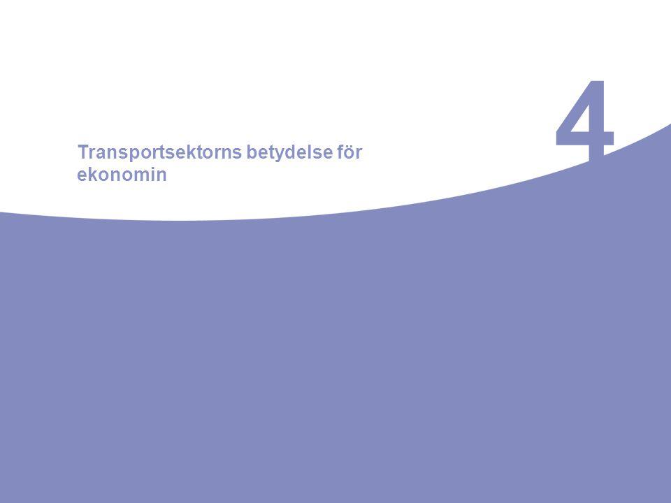 4 Transportsektorns betydelse för ekonomin