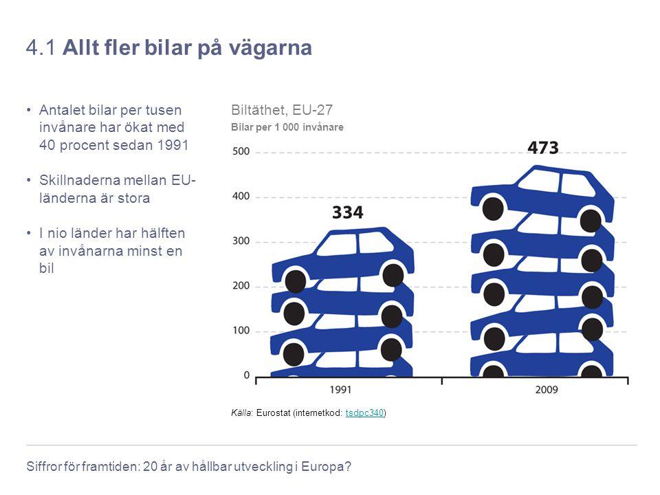 4.1 Allt fler bilar på vägarna