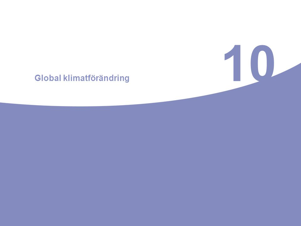 10 Global klimatförändring