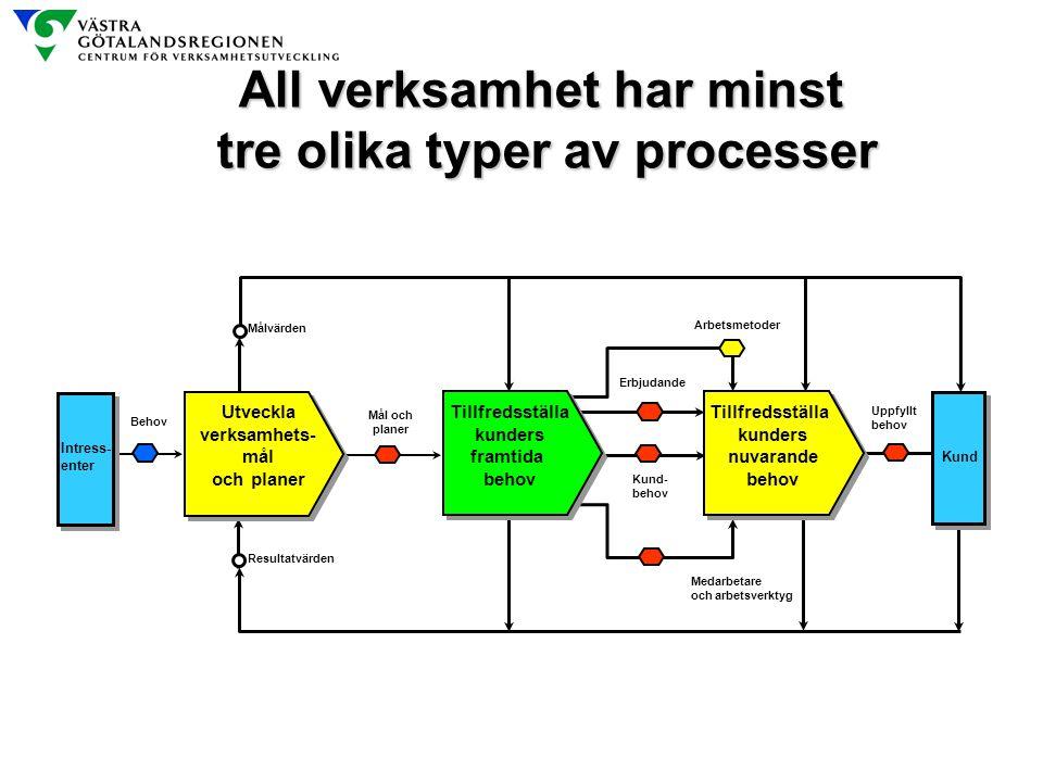 All verksamhet har minst tre olika typer av processer
