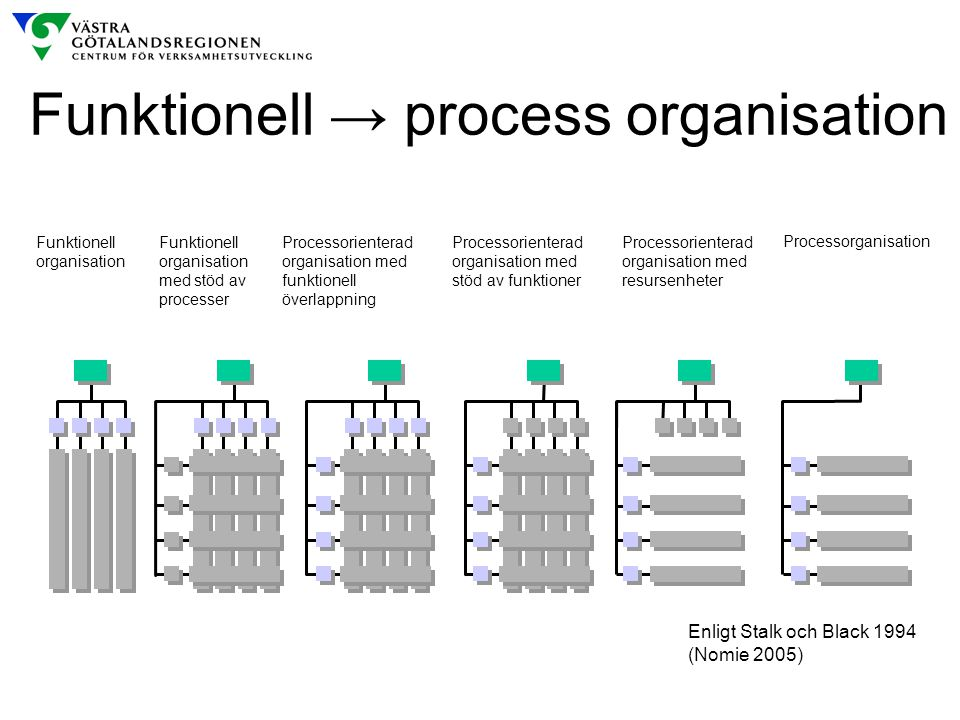 Funktionell → process organisation