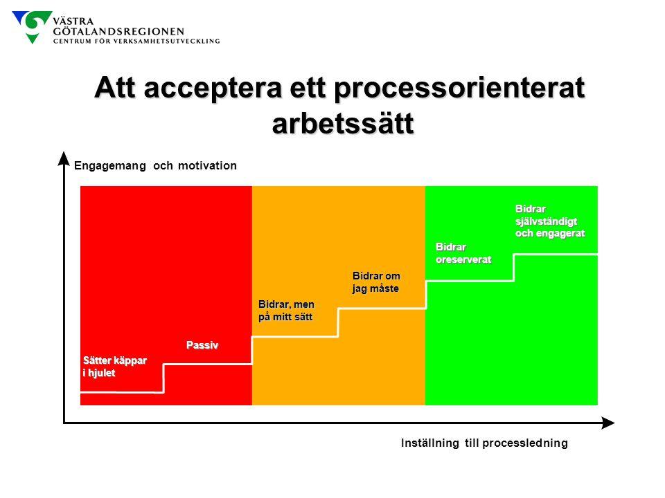 Att acceptera ett processorienterat