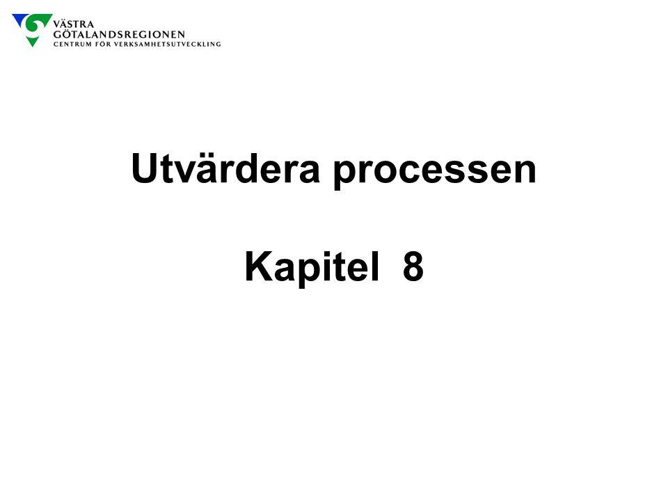 Utvärdera processen Kapitel 8