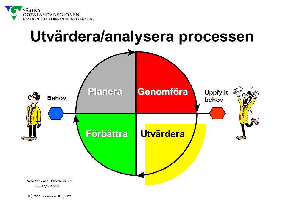 Utvärdera/analysera processen