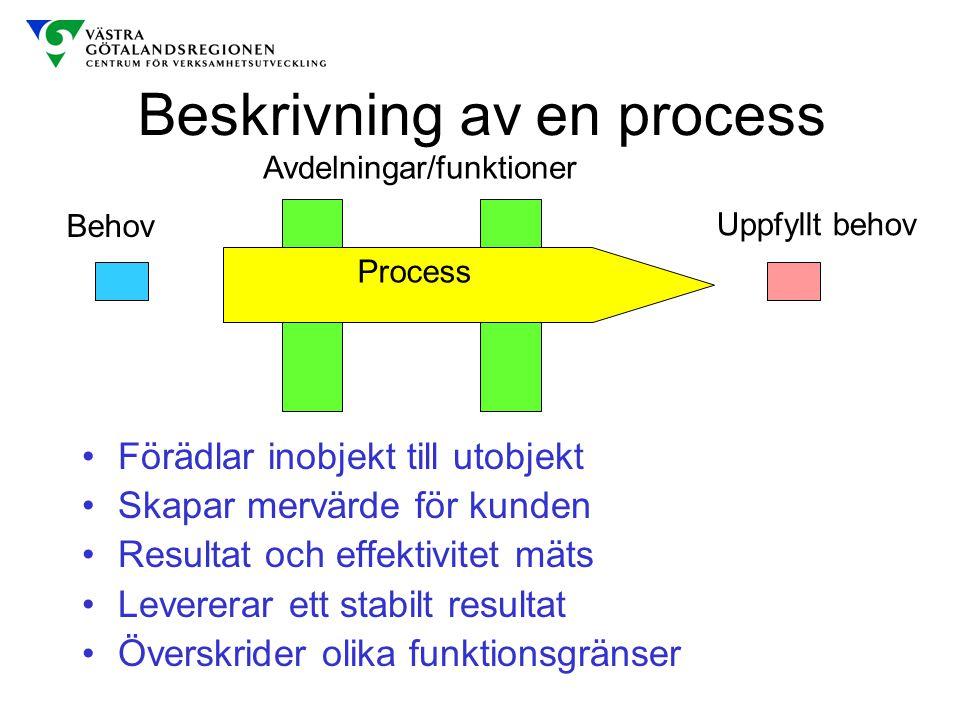 Beskrivning av en process