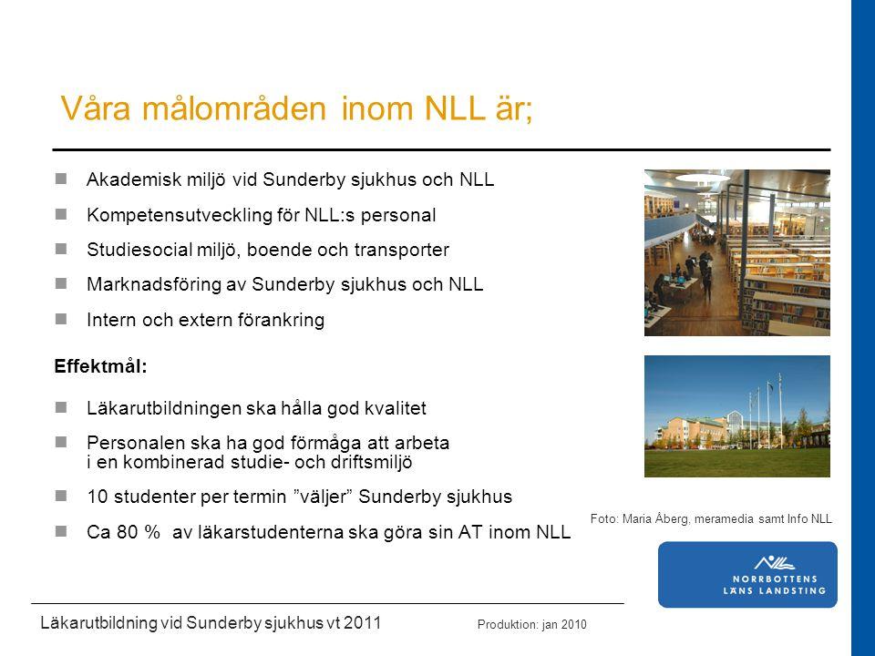 Våra målområden inom NLL är;