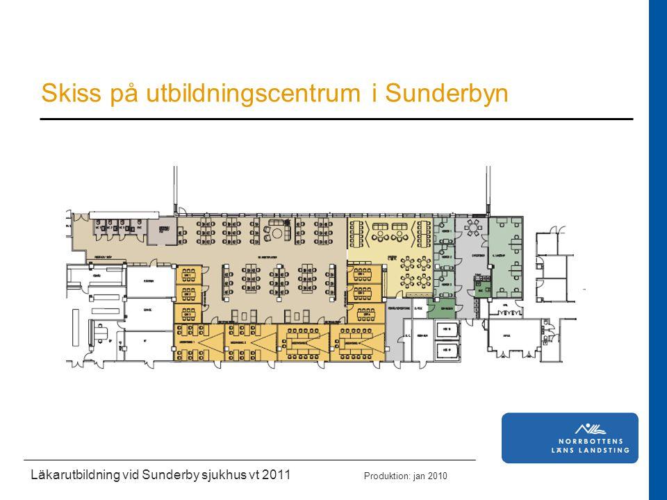 Skiss på utbildningscentrum i Sunderbyn