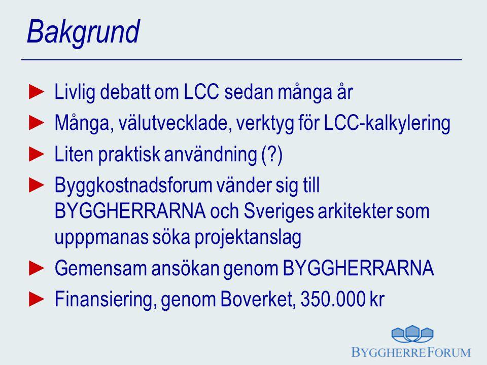 Bakgrund Livlig debatt om LCC sedan många år