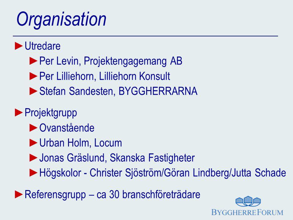 Organisation Utredare Per Levin, Projektengagemang AB
