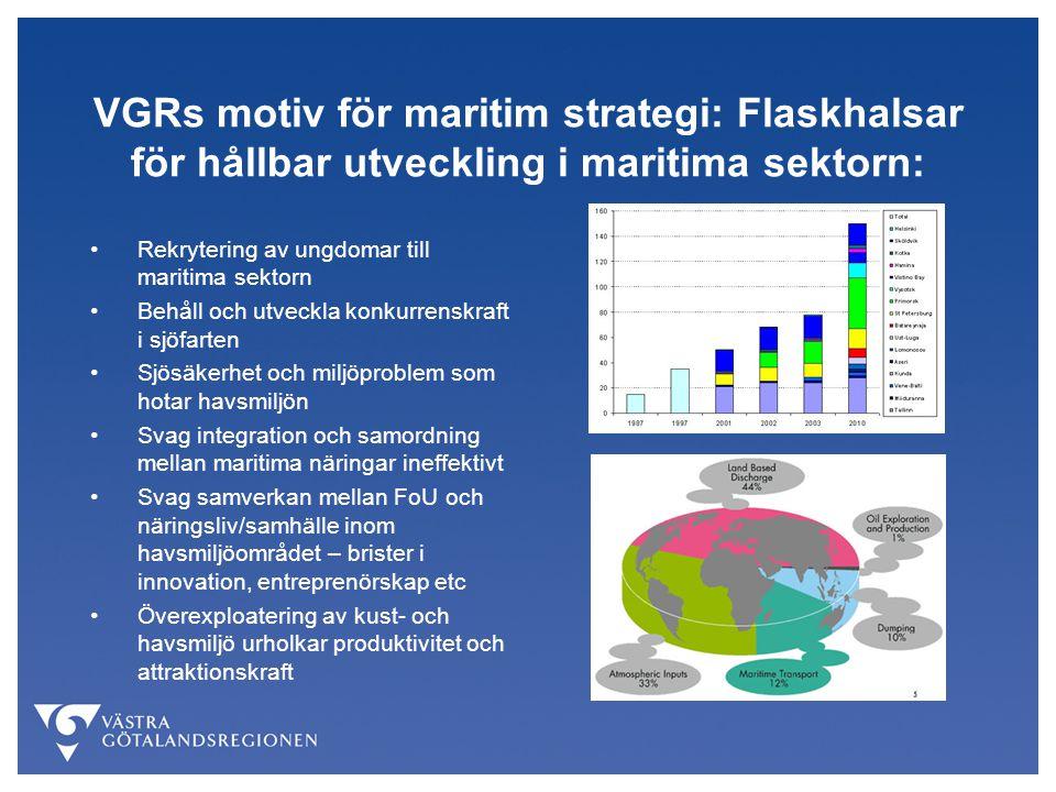 VGRs motiv för maritim strategi: Flaskhalsar för hållbar utveckling i maritima sektorn: