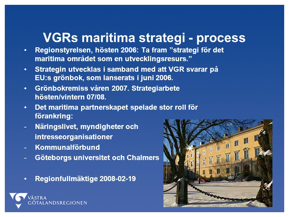 VGRs maritima strategi - process