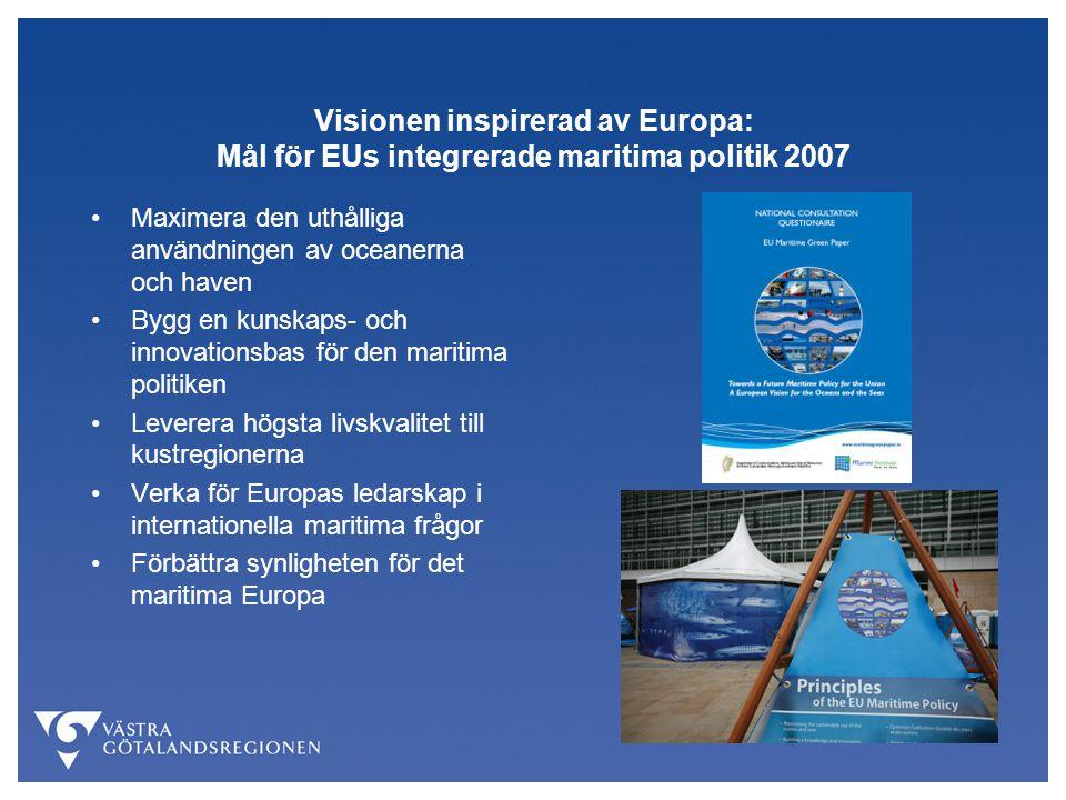 Visionen inspirerad av Europa: Mål för EUs integrerade maritima politik 2007