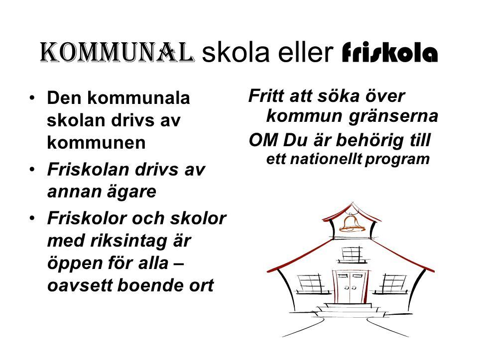 Kommunal skola eller friskola