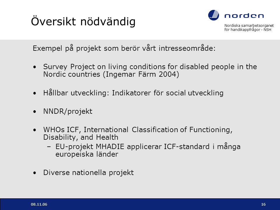 Översikt nödvändig Exempel på projekt som berör vårt intresseområde: