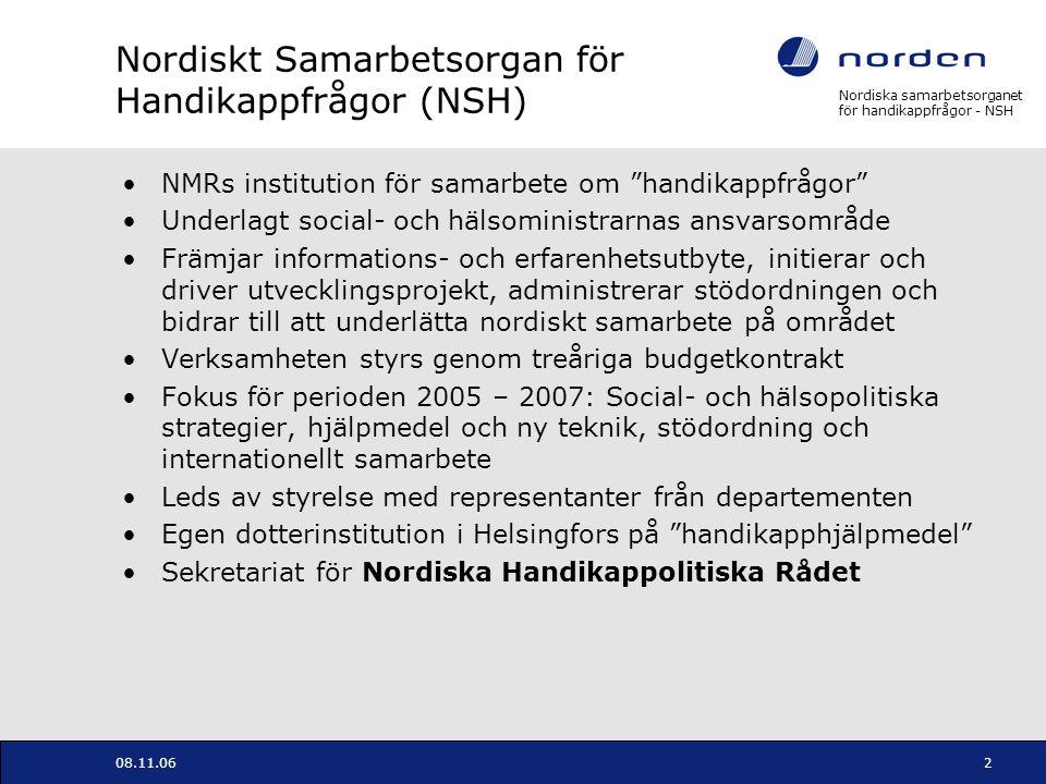 Nordiskt Samarbetsorgan för Handikappfrågor (NSH)