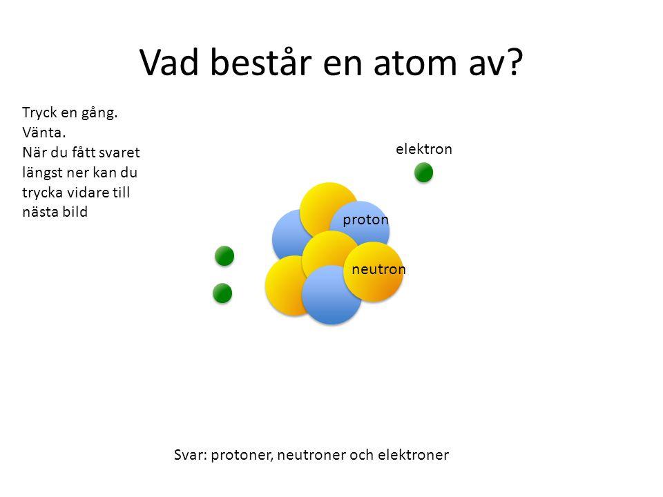 Vad består en atom av Tryck en gång. Vänta.