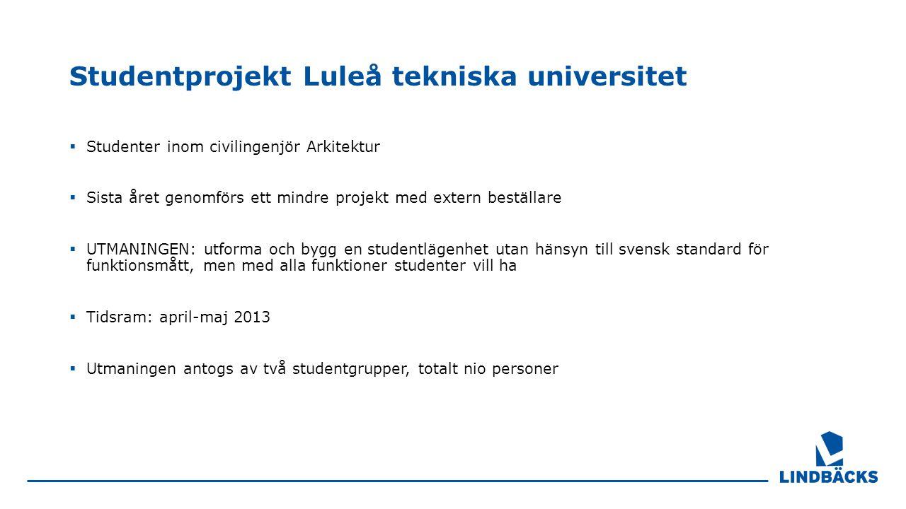 Studentprojekt Luleå tekniska universitet