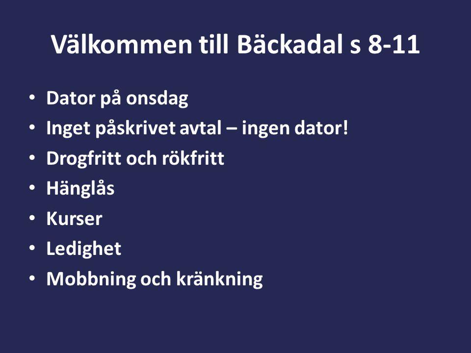 Välkommen till Bäckadal s 8-11