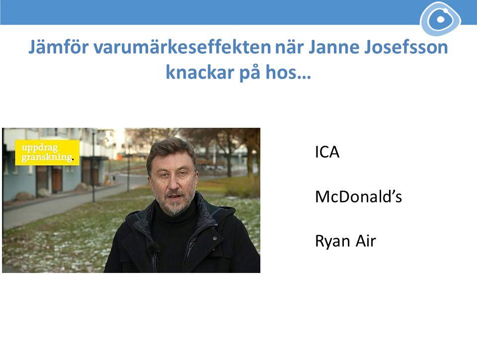 Jämför varumärkeseffekten när Janne Josefsson knackar på hos…