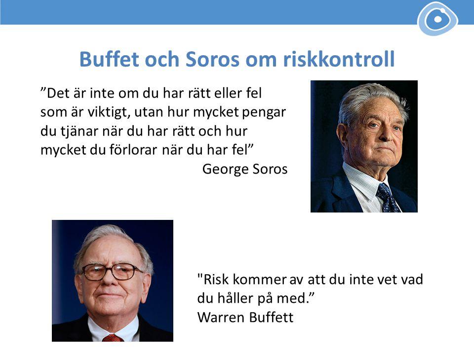 Buffet och Soros om riskkontroll