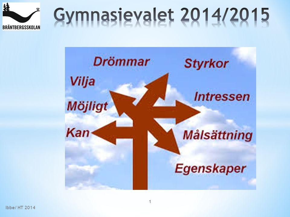 Gymnasievalet 2014/2015 Ibbe/ HT 2014
