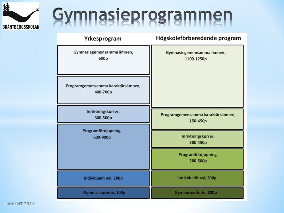 Gymnasieprogrammen Ibbe/ HT 2014