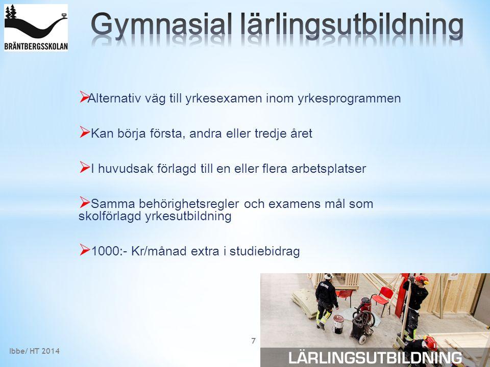 Gymnasial lärlingsutbildning
