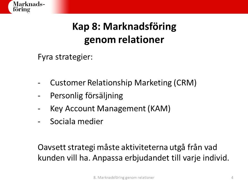 8. Marknadsföring genom relationer