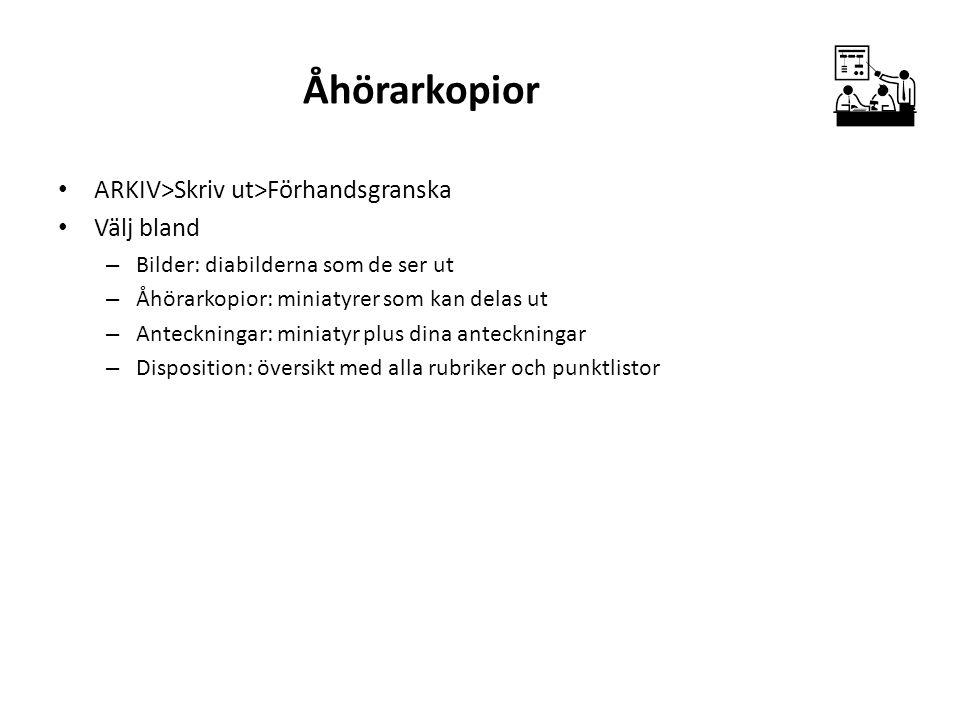 Åhörarkopior ARKIV>Skriv ut>Förhandsgranska Välj bland
