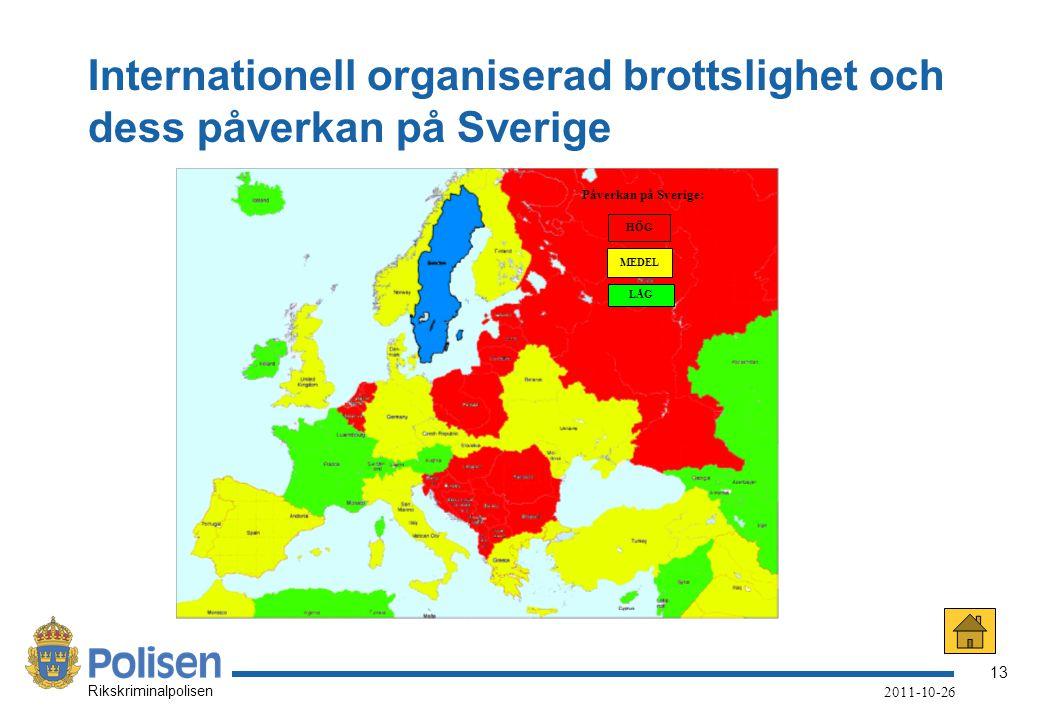 Internationell organiserad brottslighet och dess påverkan på Sverige