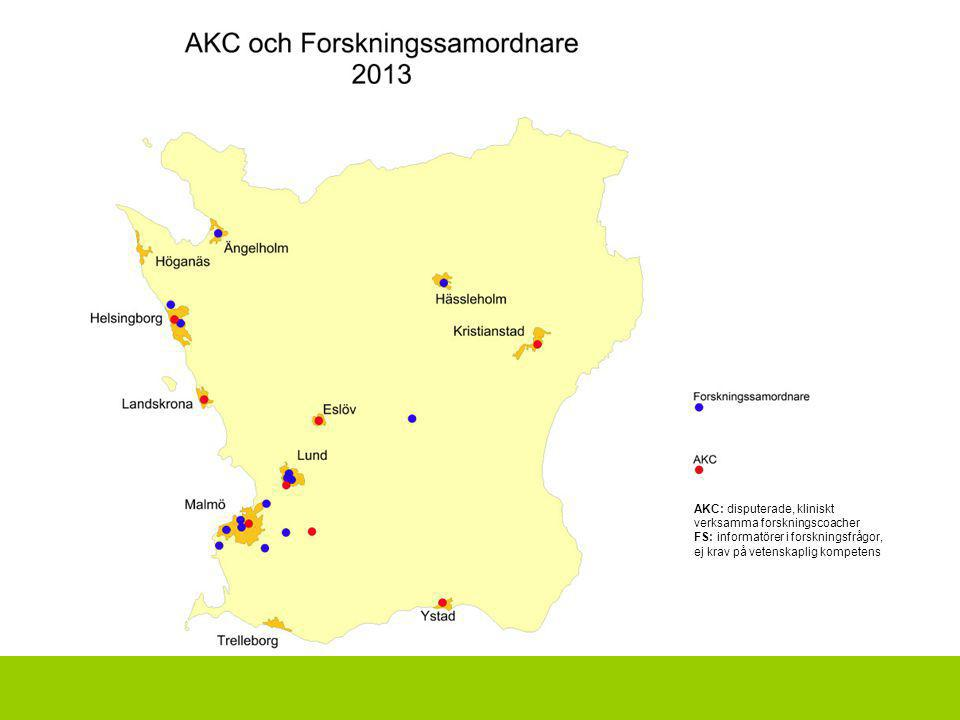 AKC: disputerade, kliniskt verksamma forskningscoacher