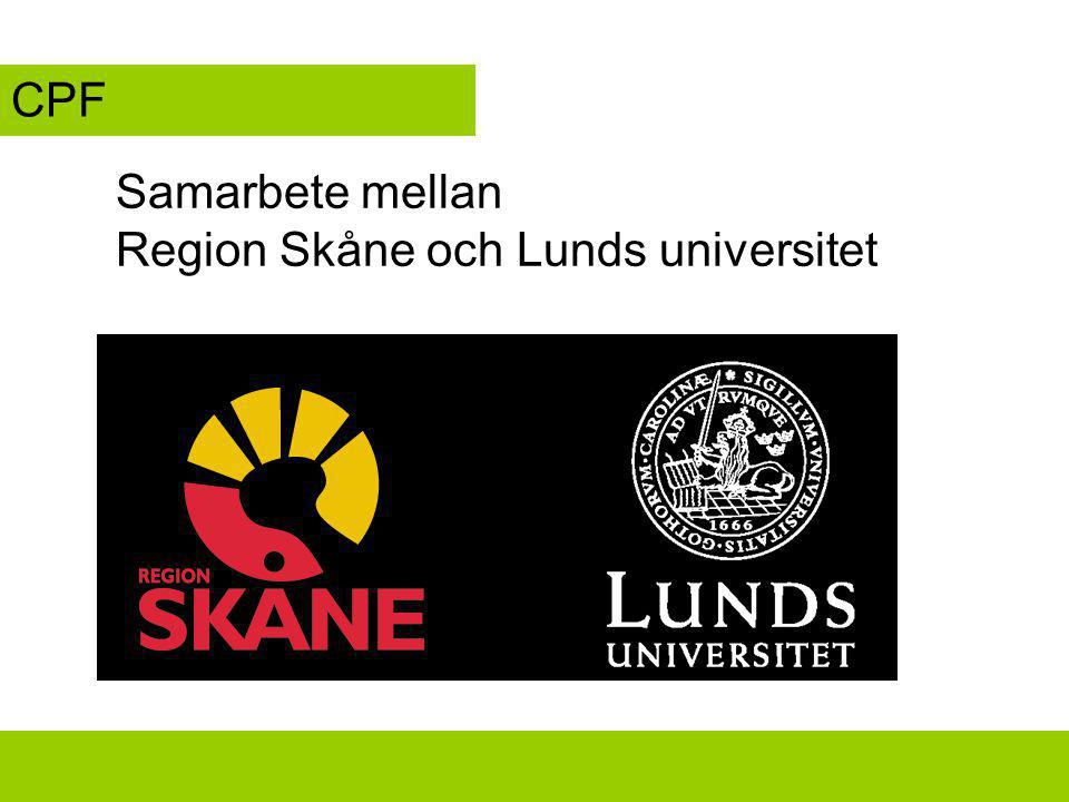 Region Skåne och Lunds universitet