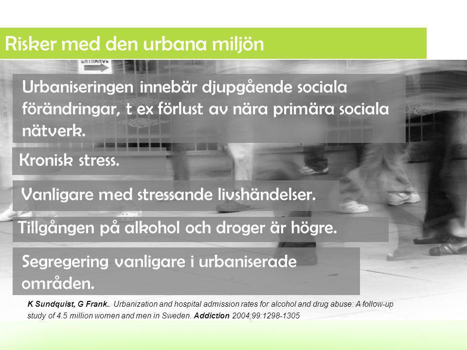 Risker med den urbana miljön