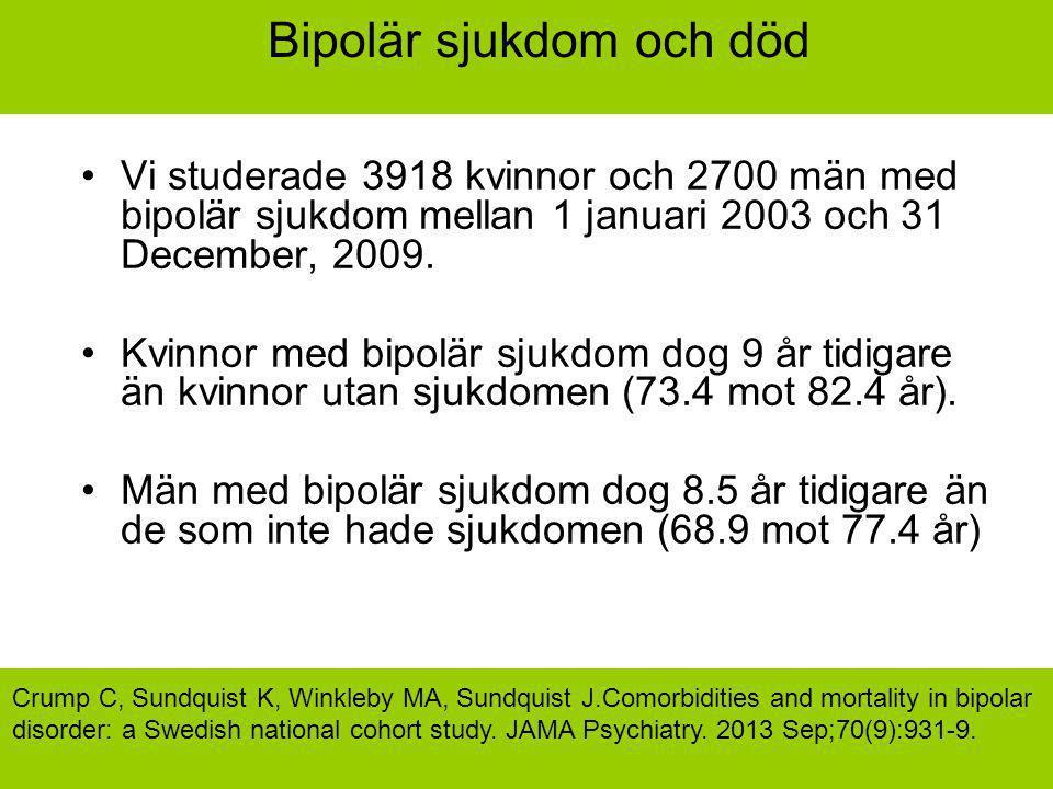 Bipolär sjukdom och död