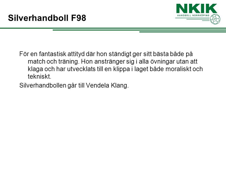 Silverhandboll F98