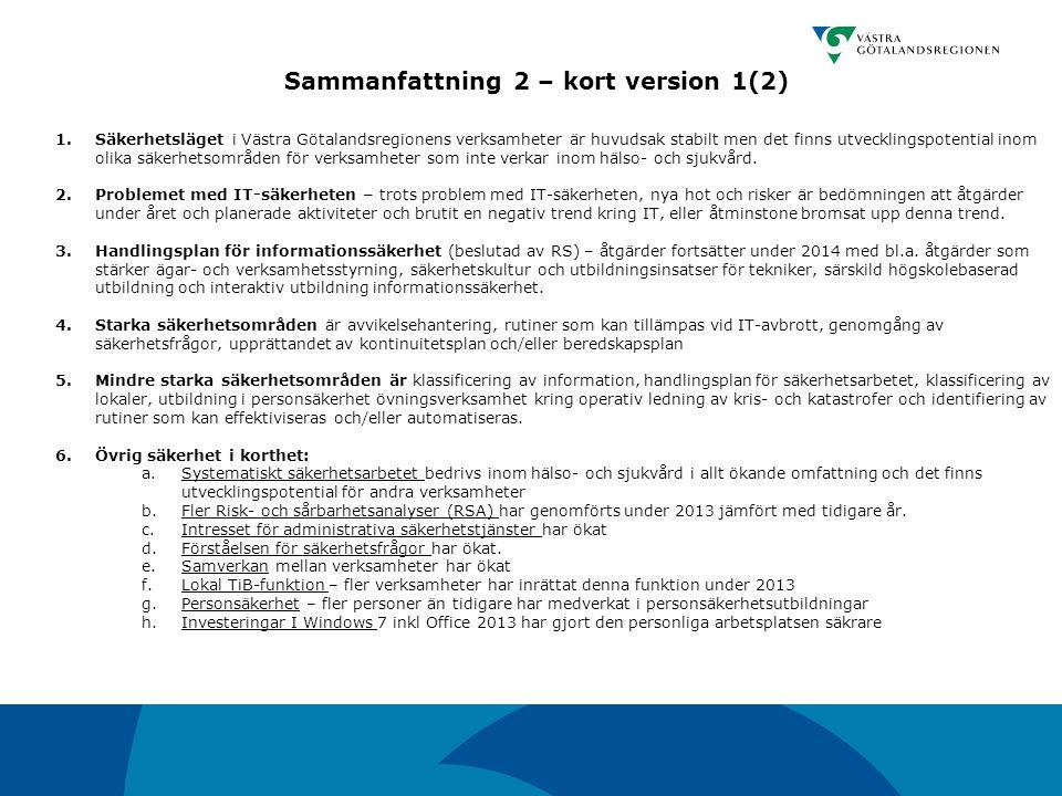 Sammanfattning 2 – kort version 1(2)