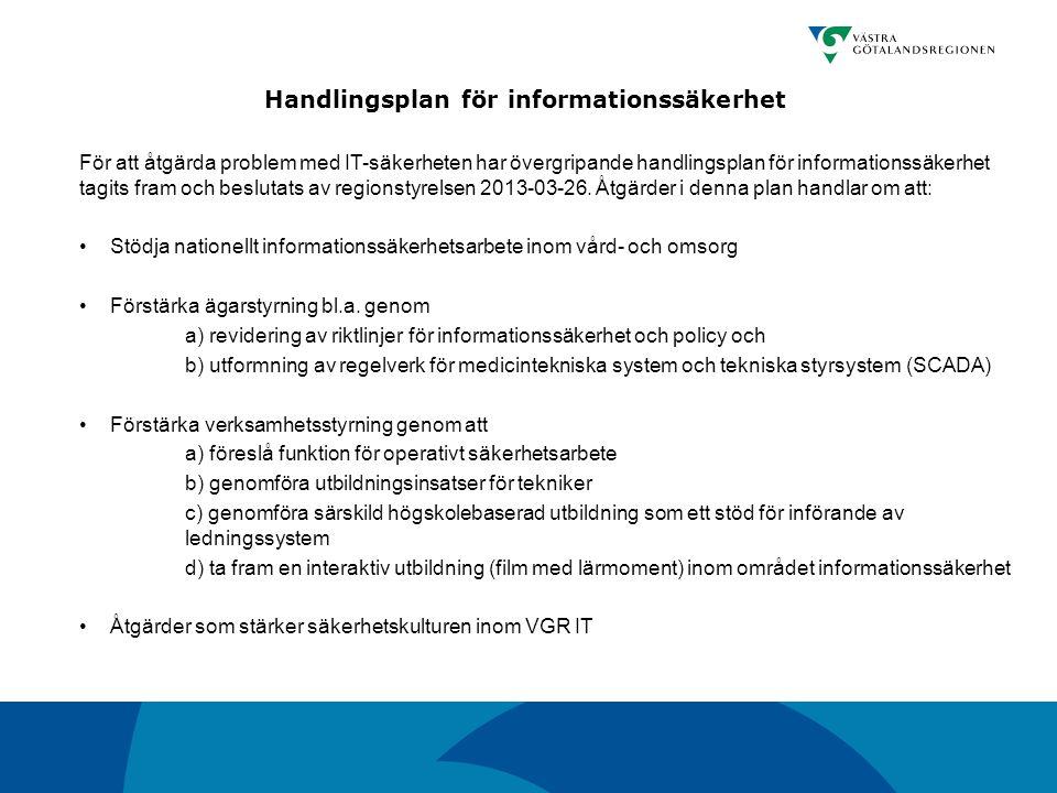 Handlingsplan för informationssäkerhet