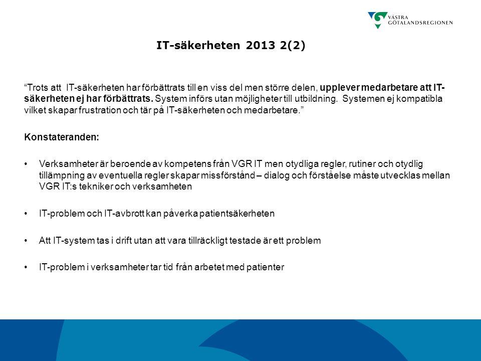 IT-säkerheten 2013 2(2)