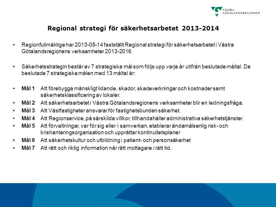 Regional strategi för säkerhetsarbetet 2013-2014