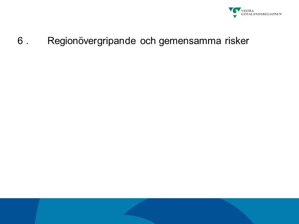 6 . Regionövergripande och gemensamma risker