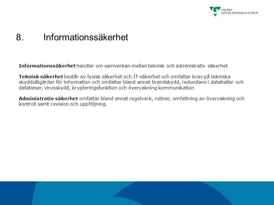 8. Informationssäkerhet