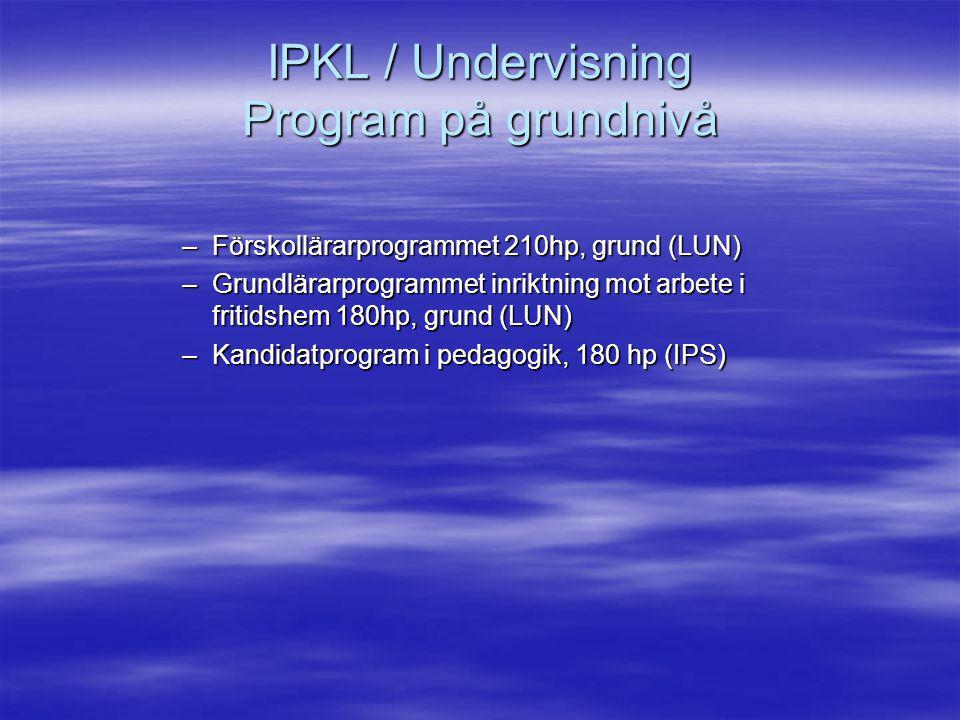 IPKL / Undervisning Program på grundnivå