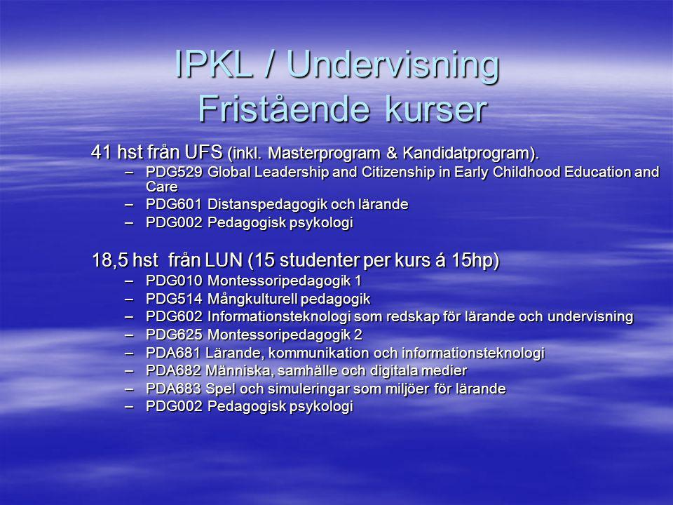 IPKL / Undervisning Fristående kurser