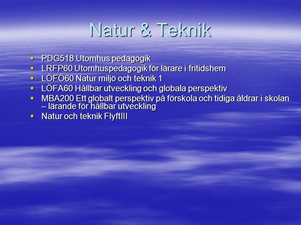 Natur & Teknik PDG518 Utomhus pedagogik