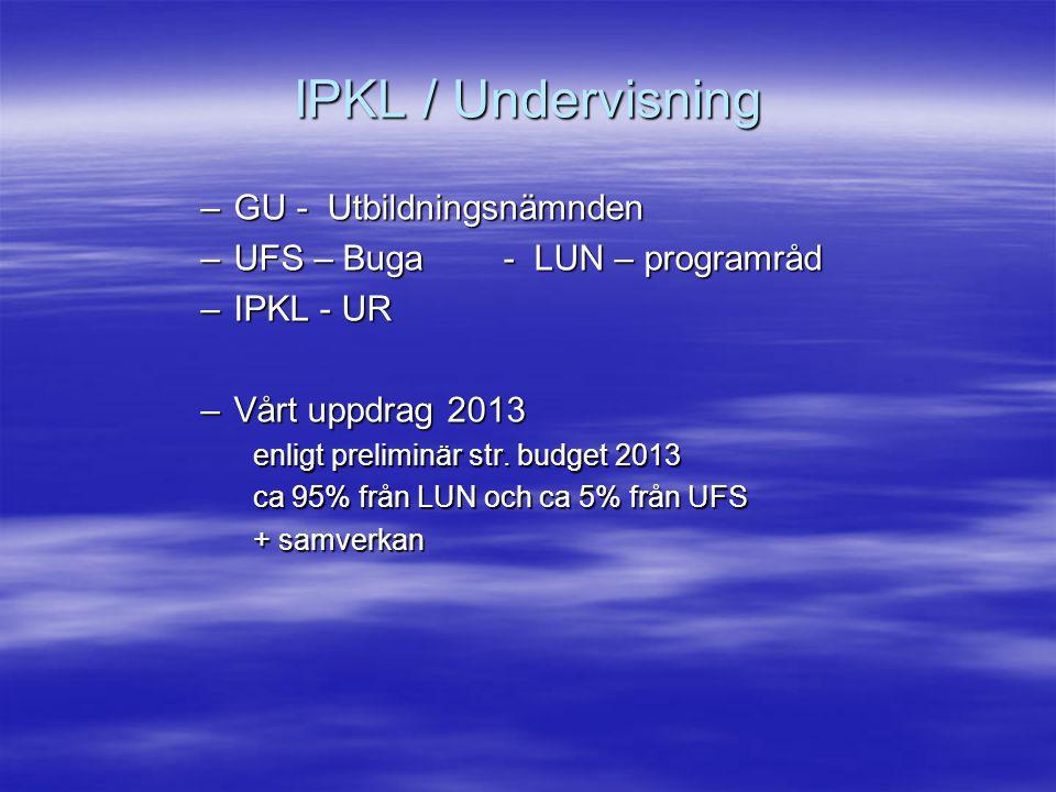 IPKL / Undervisning GU - Utbildningsnämnden