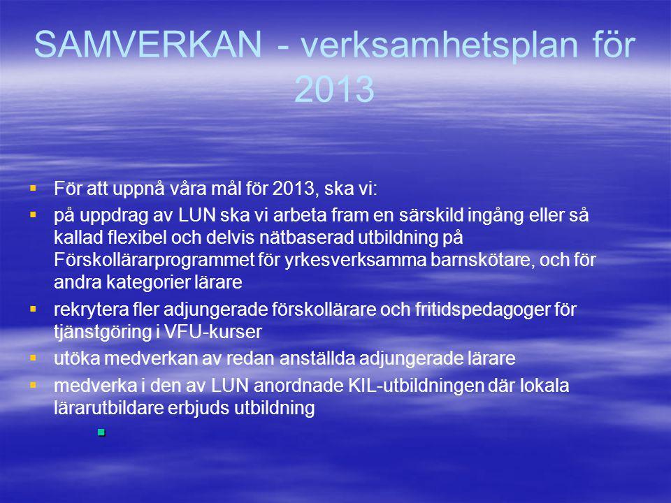 SAMVERKAN - verksamhetsplan för 2013