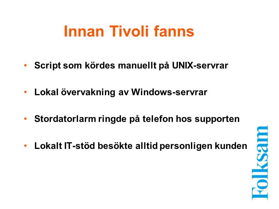 Innan Tivoli fanns Script som kördes manuellt på UNIX-servrar