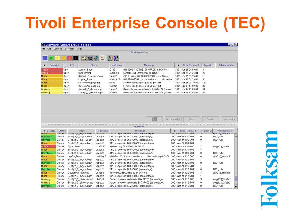 Tivoli Enterprise Console (TEC)