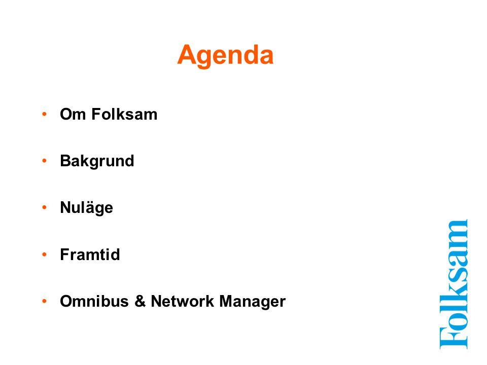 Agenda Om Folksam Bakgrund Nuläge Framtid Omnibus & Network Manager